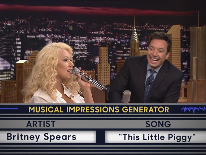 Christina Aguilera - Jimmy Fallon