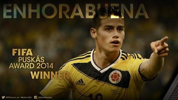 James Rodriguez-mejor gol 2014