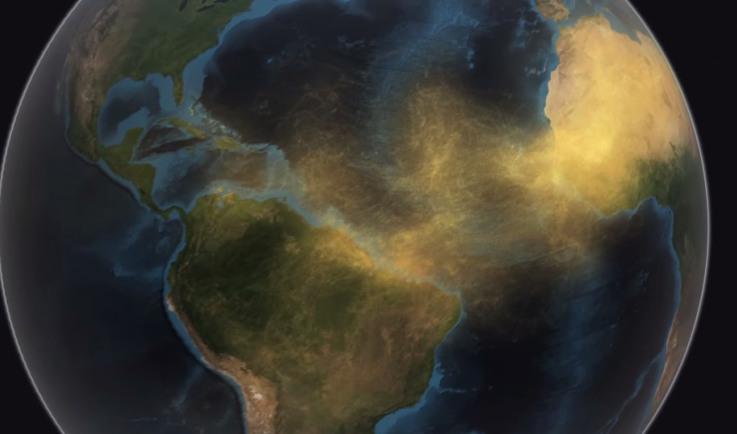 La NASA- arena - Sáhara - Amazonas en Brasil
