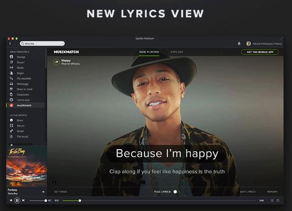 Spotify - Musixmatch