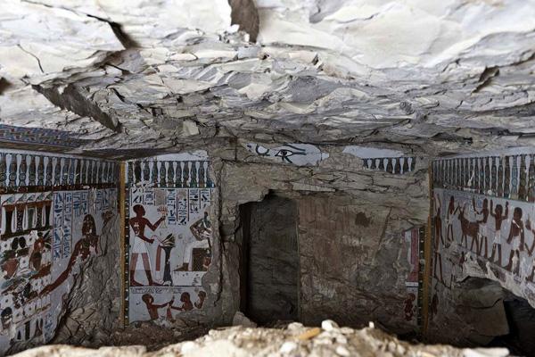 tumba faraónica en Egipto