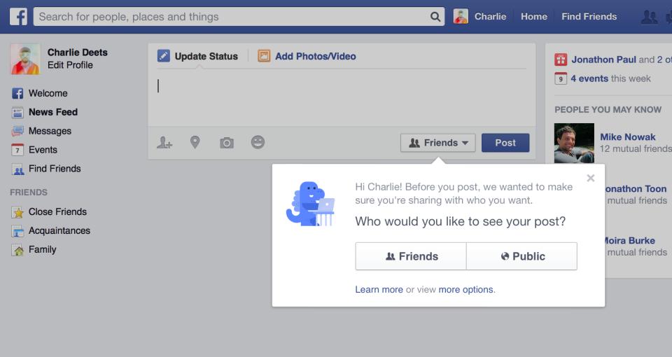 Facebook-compartir con quien tu quieras