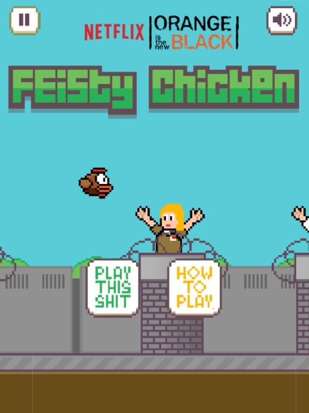 Feisty Chicken-Orange -netflix