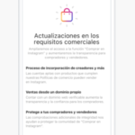 Instagram actualiza los requisitos comerciales