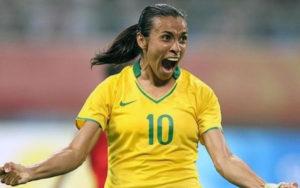 La futbolista