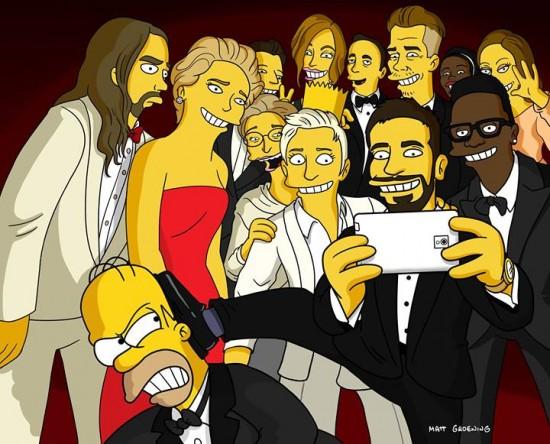 Selfie Los Simpson