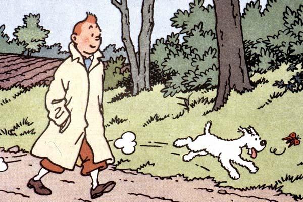 Tintín y su perro Milú