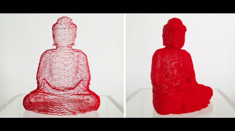 Buda es una figura recurrente en sus esculturas