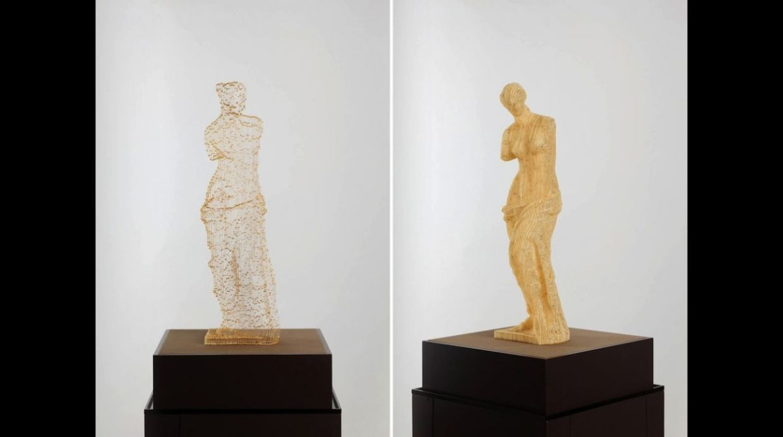 También recrea arte icónico como la Venus de Milo