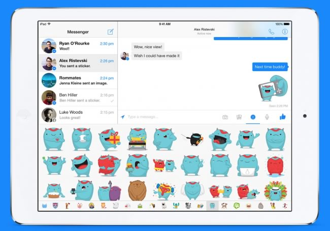 facebook-messenger-para-ipad-stickers
