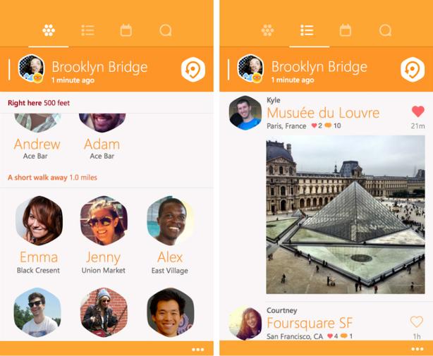 swarm-foursquare, app-windows phone