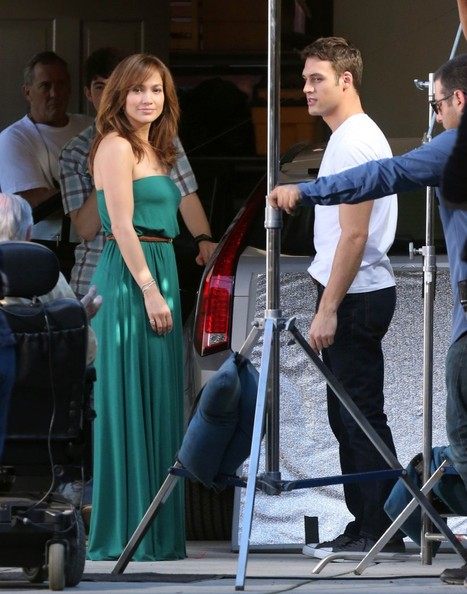 "JLo & Leah on the set of ""The Boy Next Door"""