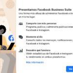 Facebook Business Suite, es una forma más eficaz de administrar Facebook e Instagram en un mismo lugar