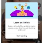 TikTok prueba una pestaña de aprendizaje para mostrar videos de educación y de cómo hacerlo