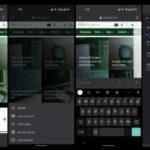 App de Google para Android prueba de rediseño del navegador