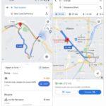 Google Maps está probando un nuevo aspecto más limpio para la pantalla de opciones de ruta