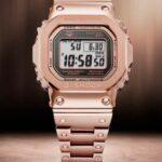 G-SHOCK presenta el primer reloj de metal completo chapado en iones de oro rosa GMWB5000GD-4