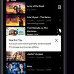 Netflix ahora te permite ver videos parcialmente descargados en Android